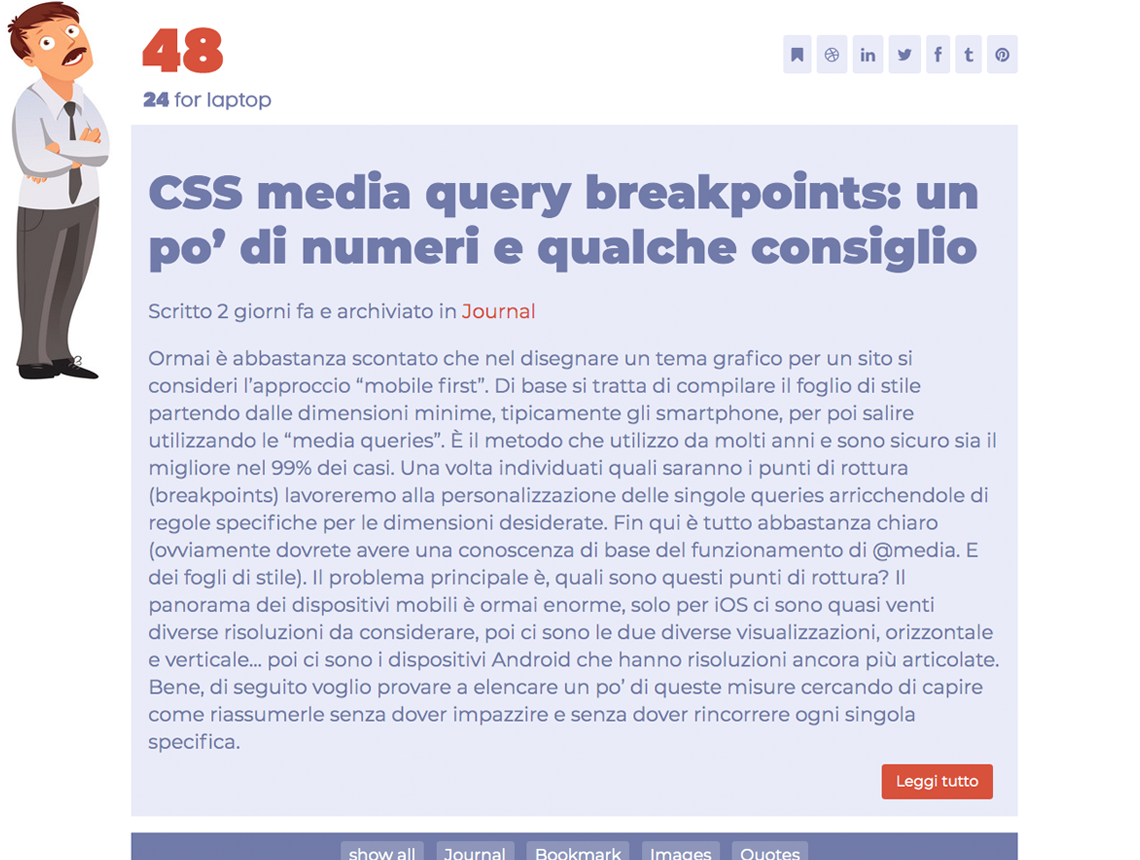 CSS media query  breakpoints: un po' di numeri e qualche consiglio