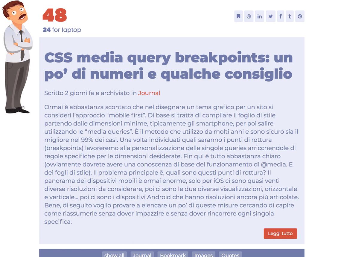 CSS media query  breakpoints: un po' di numeri e qualche consiglio